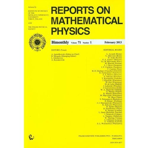Reports on Mathematical Physics 54/1 wer.kraj. (2013)