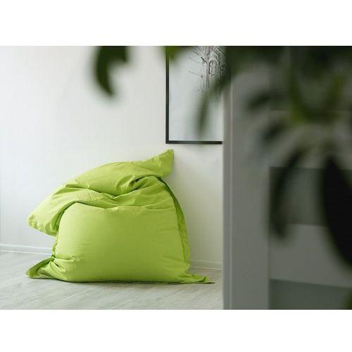 Beliani Pufa do siedzenia z powłoczką wewnętrzną 140 x 180 cm zielona (7105278708931)