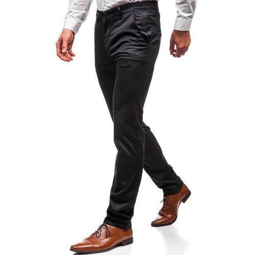 Spodnie wizytowe męskie antracytowe denley 7624, Red polo