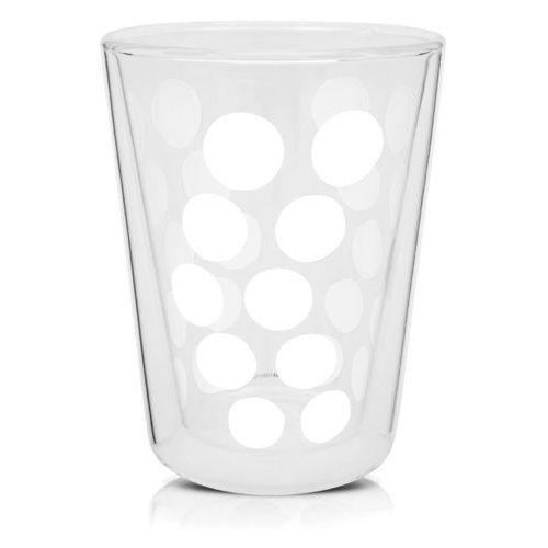 Zakdesigns Szklanka 350 ml z podwójnymi ściankami (biała) dot zak! designs