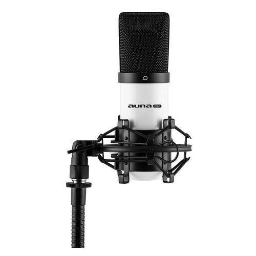 Auna MIC-900WH USB Mikrofon pojemnościowy biały Charakterystyka kardioidalna studyjny (4260414898648)