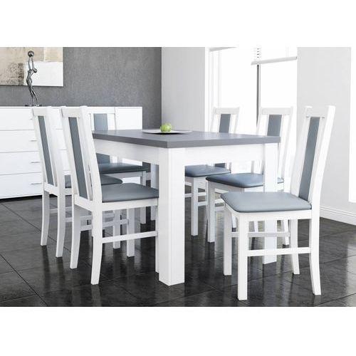 Drewmix Stół s-44 (80x140/180) + 6 krzeseł boss xiv