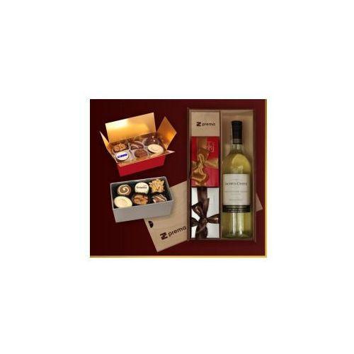 Czekoladki Pralinki i wino zestaw