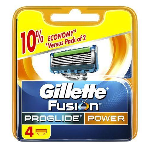 Wkłady do maszynek zasilanych bateryjnie gillette fusion proglide power (4 sztuki) marki Procter & gamble