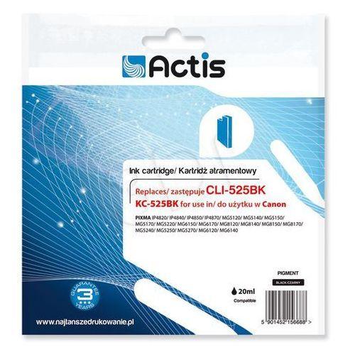 Actis Tusz kc-525bk czarny do drukarek canon (zamiennik canon pgi-525bk) - z chipem [20ml]