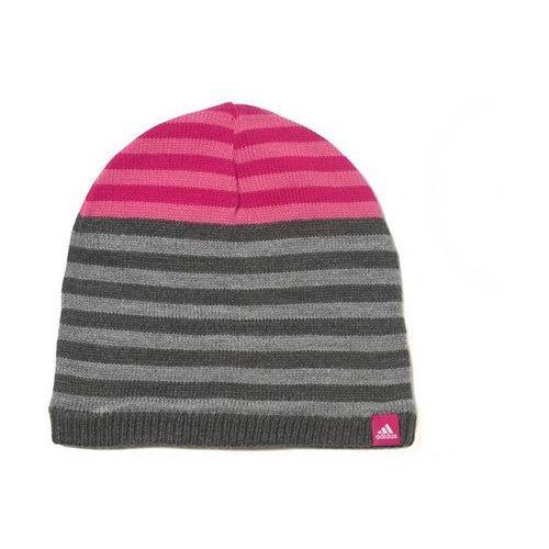 performance stripy czapka dark greyh/core heather/white marki Adidas