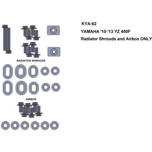 Keiti Zestaw śrub do yamaha 10-13 yz450f radiator