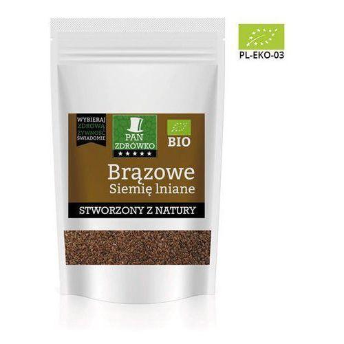 Pan zdrówko bio - siemię lniane brązowe - 250g (5902114242718)
