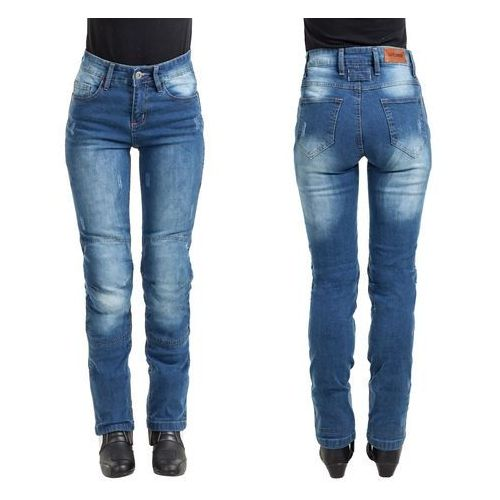 Damskie jeansowe spodnie motocyklowe W-TEC Panimali, Niebieski, L, jeans