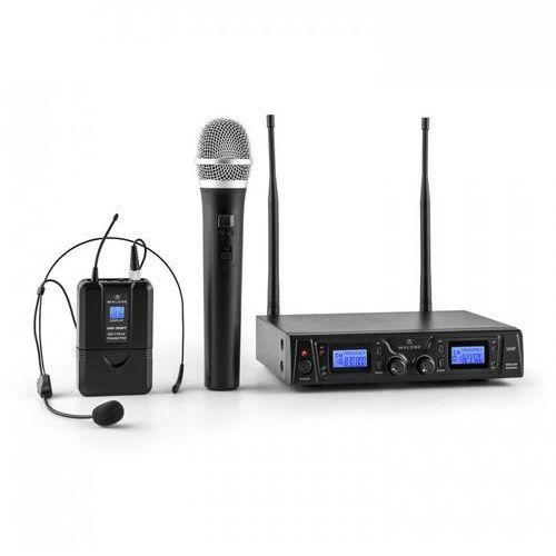 Duett pro v3 2-kanałowy bezprzewodowy zestaw mikrofonowy uhf zasięg 50m marki Malone