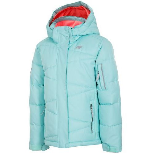 4F dziewczęca kurtka narciarska J4Z17 JKUDN301 miętowy jasny 104, kolor zielony