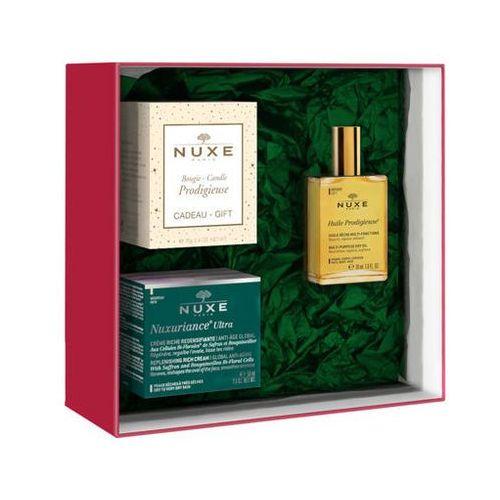 nuxuriance ultra krem o wzbogaconej konsystencji 50ml + suchy olejek 30ml i świeca zapachowa 70g gratis! marki Nuxe