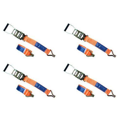 Zestaw: cztery pasy transportowe z napinaczem 4m/50mm/5t pasy zestaw czterech marki Unitrailer
