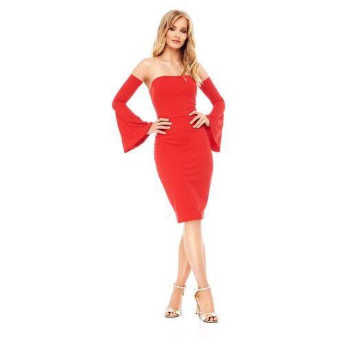 Sukienka frezia w kolorze czerwonym marki Sugarfree