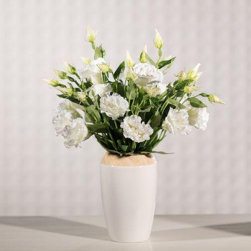 kwiat eustomy wys. 48cm, 14 × 8 × 48 cm marki Dekoria