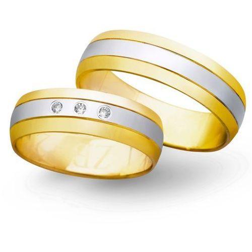 Obrączki ślubne z żółtego i białego złota 6mm - O2K/013, kup u jednego z partnerów