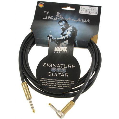 Klotz JBPR030 Joe Bonamassa kabel gitarowy 3m, jack-jack kątowy, pozłacane wtyki