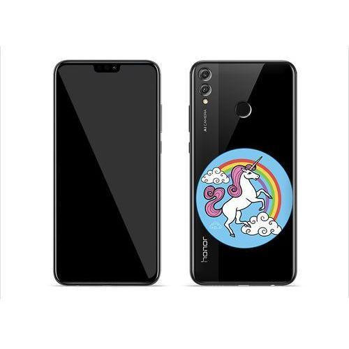 Huawei Honor 8X - etui na telefon Crystal Design - Unicorn