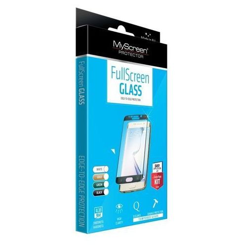 Myscreen protector Szkło hartowane myscreen fullscreen glass galaxy s7 edge na cały ekran, czarne (5901924921165)