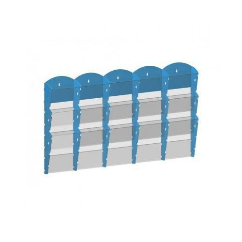 B2b partner Plastikowy uchwyt ścienny na ulotki - 5x3 a5, szary