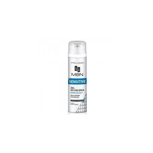 AA Men Sensitive, żel do golenia nawilżający do skóry bardzo wrażliwej 200 ml