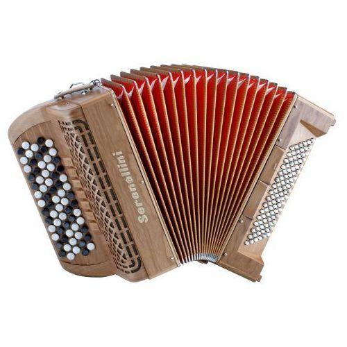 Serenellini 373 W Cherry 37(67)/3/7 96/4/2 akordeon guzikowy (wykończenie drewniane)