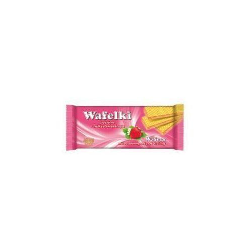Skawa Wafelki jogurtowe z kremem o smaku truskawkowym 180 g