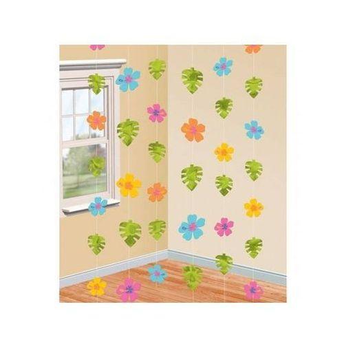 Hawajska dekoracja wisząca hibiskus - 210 cm - 6 szt. marki Amscan