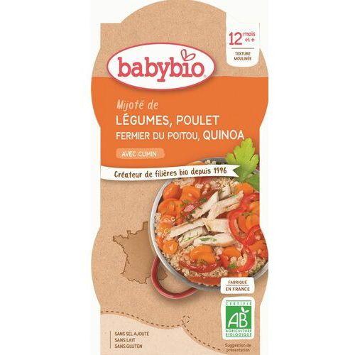 Danie quinoa z kurczakiem i warzywami od 12 miesiąca bezglutenowy BIO 2x200 g BabyBio