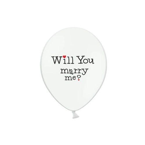 Party deco Balony lateksowe will you marry me? - 30 cm - 5 szt.