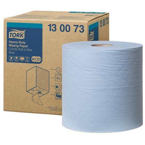 Czyściwo papierowe wielozadaniowe do trudnych zabrudzeń niebieskie w1/w2/w3 marki Tork