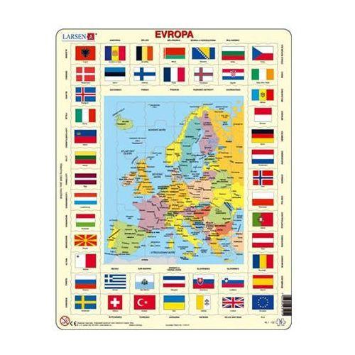 Puzzle maxi - mapa evropy + vlajky/70 dílků marki Neuveden