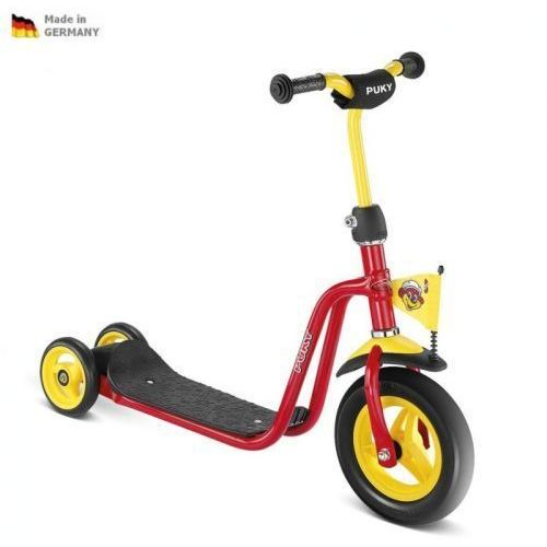NOWY MODEL - Dziecięca czerwona hulajnoga SCOOTER R1 PUKY 5163, Puky