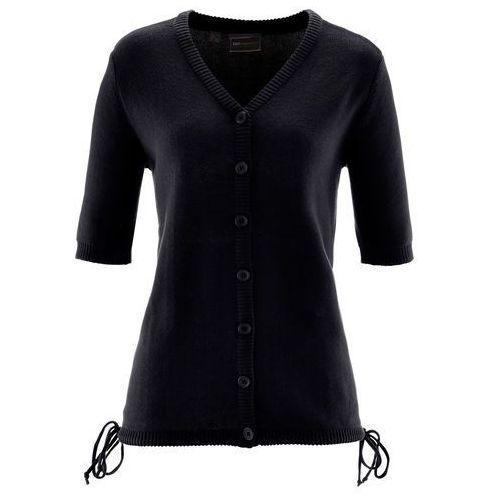 Sweter rozpinany czarny marki Bonprix