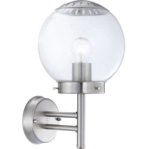 Globo Kinkiet lampa oprawa ścienna zewnętrzna bowle ii 1x60w e27 chrom/przezroczysty 3180 (9007371110797)