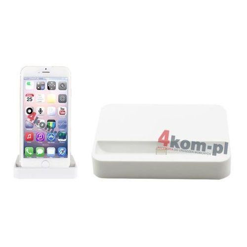 2w1 stacja dokująca do iPhone 5 5S 6 6 Plus + kabel USB 8 pin 1m - Biały