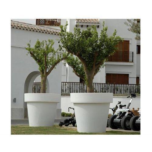 donica magnolia 60 solar biała - led, sterowanie pilotem marki New garden