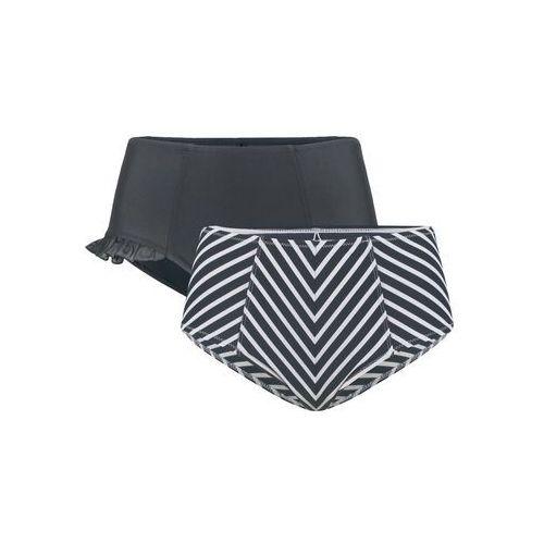 Figi bikini shape (2 pary) bonprix czarny + czarno-biały