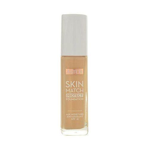 skin match protect podkład nawilżający spf 18 odcień 102 golden beige 30 ml marki Astor