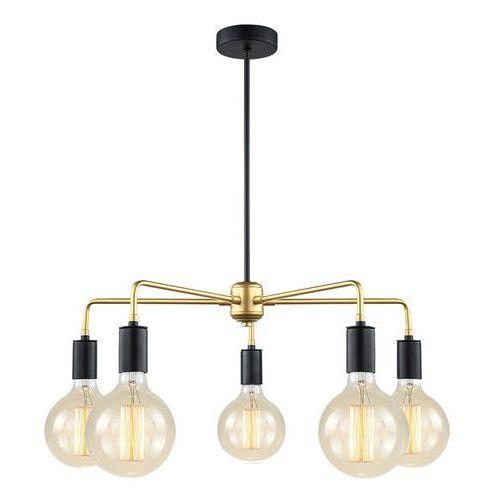 Italux Lampa wisząca malene loft mdm3386/5 bk+gd - - rabat w koszyku