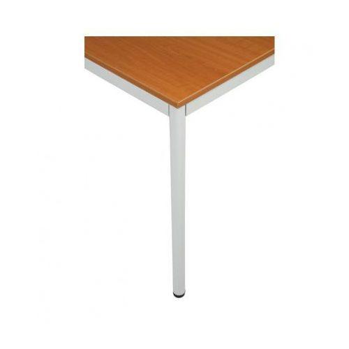 Stół kuchenny - okrągłe nogi, jasnoszara konstrukcja, 1600x800 mm, B2B Partner