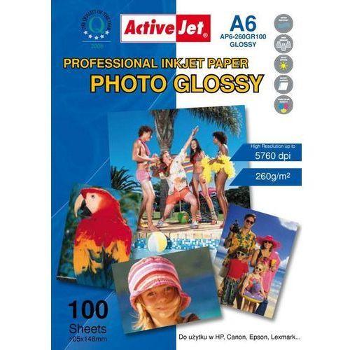 Activejet Photo Glossy A6 (AP6-260GR100) 100 ark Darmowy odbiór w 21 miastach!