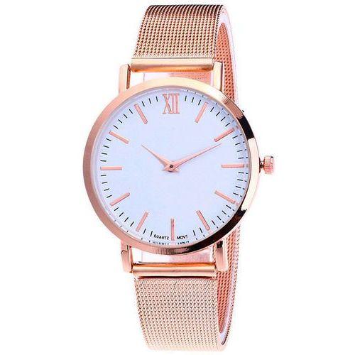 Zegarek Damski Męski SIMPLE mesh różowe złoto - ROSE