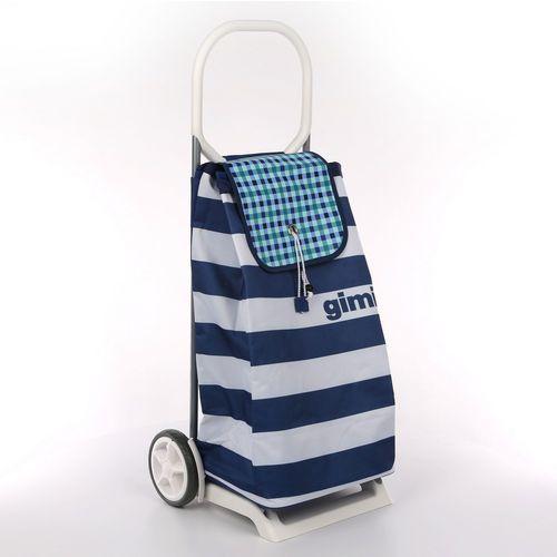 Wózek na zakupy 30kg/52l. italo paski biało-granatowe marki Altom