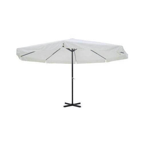 Parasol ogrodowy aluminiowy (500 cm) biały, vidaXL z VidaXL