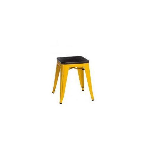 D2.design Stołek paris wood żółty sosna szczotkowa