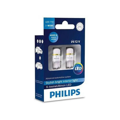 Philips Zestaw 2x led żarówka samochodowa x-tremeultion 127994000kx2 t10 w2,1x9,5d/0,8w (8727900395945)