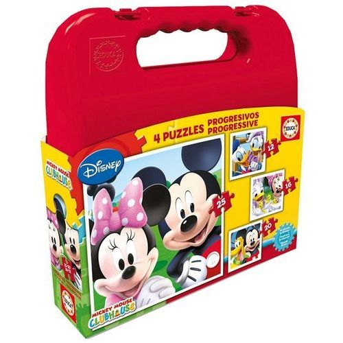 Educa Walizka puzzle mickey mouse club house 12+16+20+25 elementów (8412668165052)