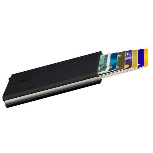 ✅ Aluminiowe Etui Wysuwane Karty Ochrona RFID CardProtector Czarny - Czarny