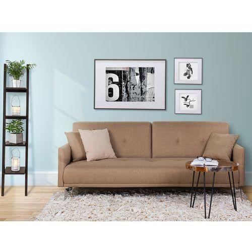 Sofa z funkcja spania bezowa - kanapa rozkladana - wersalka - LUCAN, produkt marki Beliani